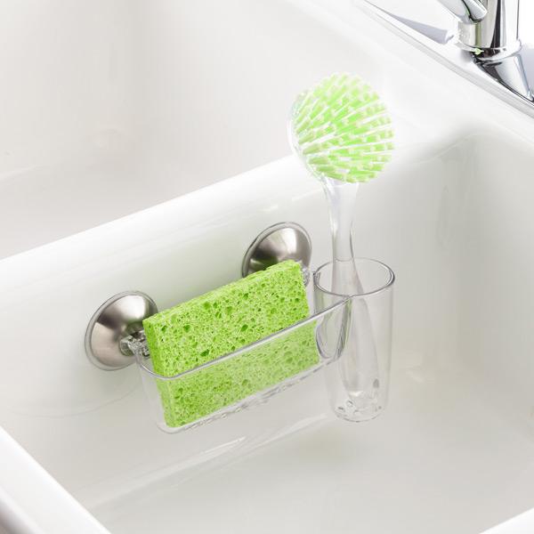 Interdesign Lock Sink Cradle With Brush Holder