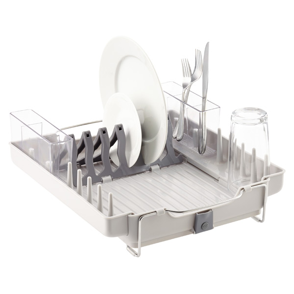 Oxo Good Grips Folding Stainless Steel Dish Rack Enchanting OXO Fold Away Dish Rack The Container Store