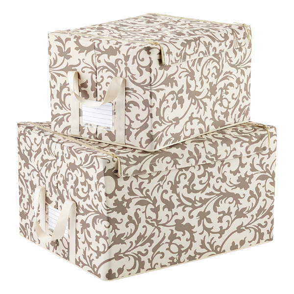 Superieur Baroque Latte Fabric Storage Boxes By Reisenthel ...