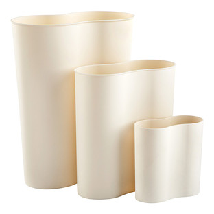 White Eco Co Trash Cans