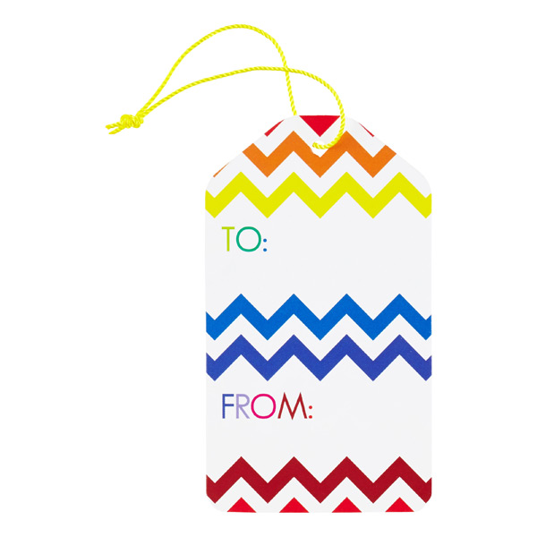rainbow chevron gift tags the container store