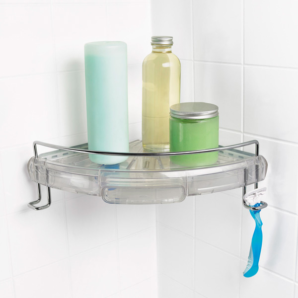 Bathroom Caddy oxo good grips press-sure corner caddy   the container store