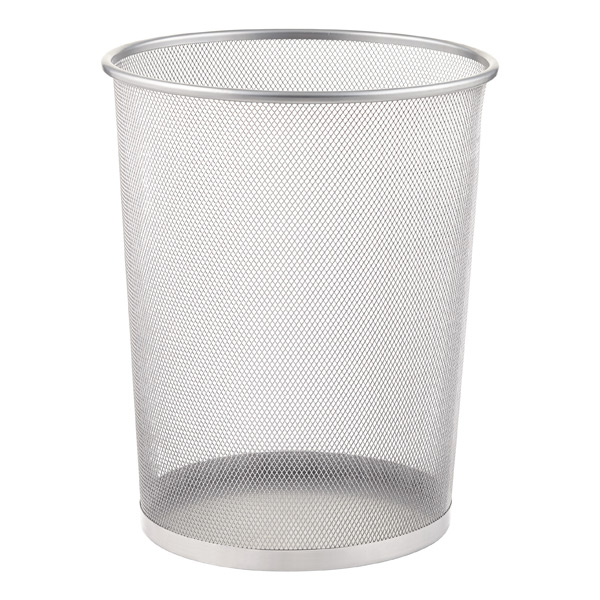 Silver Mesh Trash Can The Container Store