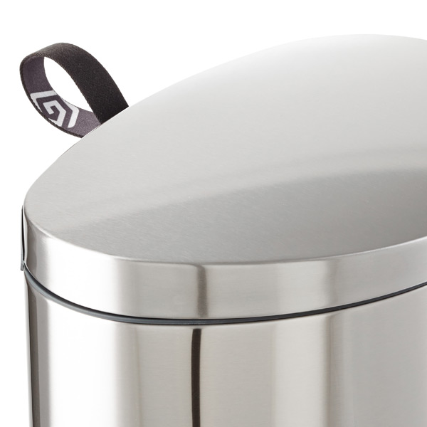Brabantia Stainless Steel 8 Gal 30l Flatback Semi Round Trash Can The Container