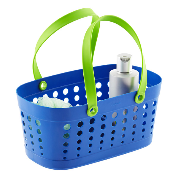 Casabella Blue & Green Flexible Shower Basket | The Container Store