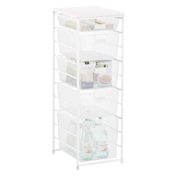 White Cabinet Sized Elfa Mesh Pantry Storage