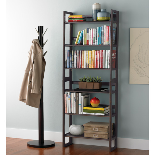 Magnificent Java Solid Wood Stackable Folding Bookshelf Best Image Libraries Sapebelowcountryjoecom