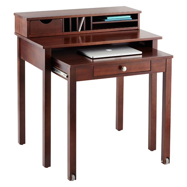 Awesome Java Solid Wood Roll Out Desk ... Pictures
