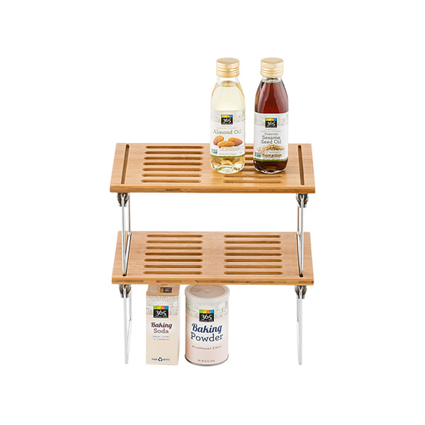 Bamboo Shelf - Small Bamboo Stackable Shelf | The Container Store