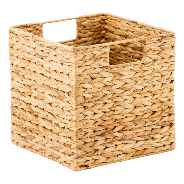 Water Hyacinth Storage Cubes with Handles The Container Store