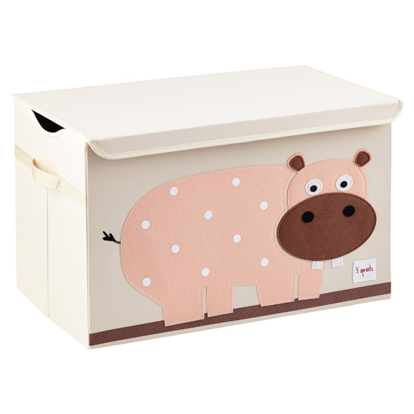 1a892470d 3 Sprouts Hippo Toy Storage Box with Handles