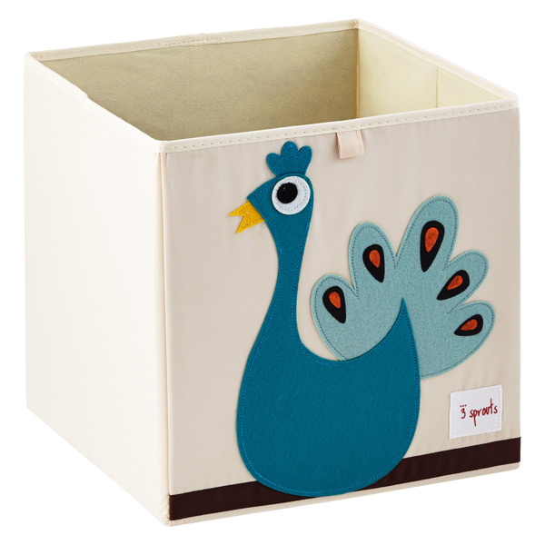 3 Sprouts Peacock Storage Cube The Container Store