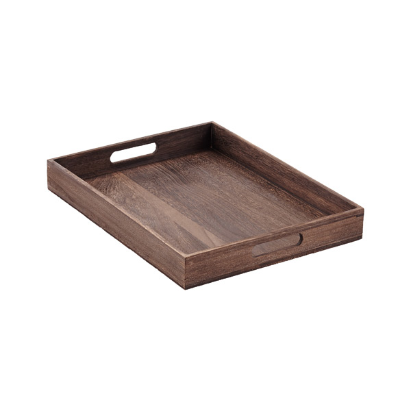 Feathergrain Wooden Serving Trays with Handles
