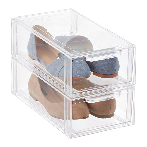 Clear Shoe Drawers - Clear Stackable Shoe Drawer  f7942f4b7