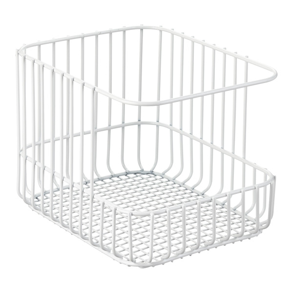 Scala Steel Wire Stackable Basket | The Container Store