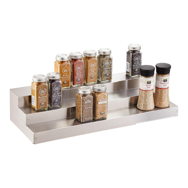 3 Tier Stainless Steel Expanding Spice Shelf The