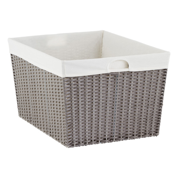 Pretty Laundry Baskets Delectable Grey Montauk Rectangular Basket The Container Store