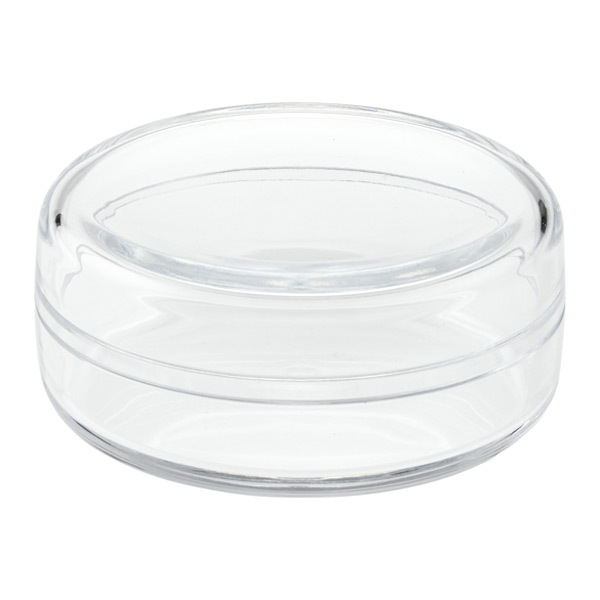 clear round acrylic box the container store