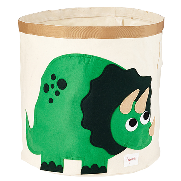 Beau Dinosaur Canvas Bin By 3 Sprouts