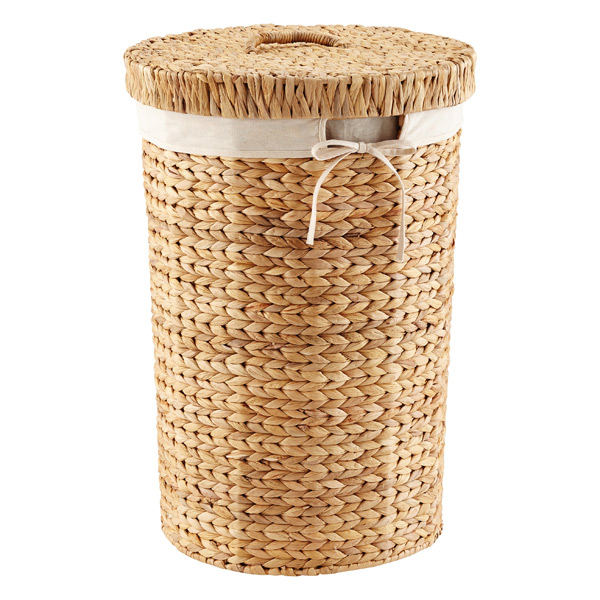Round Water Hyacinth Hamper The Container Store
