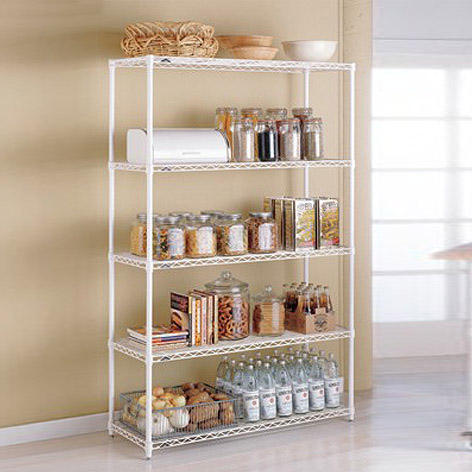 metal kitchen shelves intermetro kitchen shelves the container store rh containerstore com metal shelving kitchen metal shelves kitchen storage