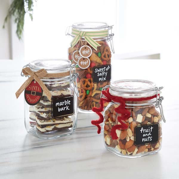 Bormioli Hermetic Gl Jars With Chalkboard Labels The Container