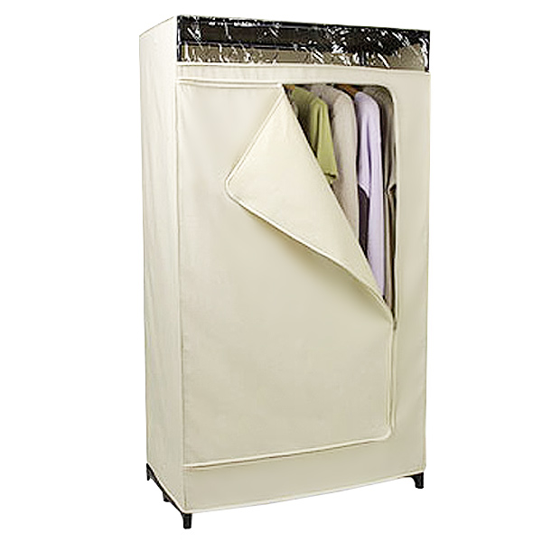 Portable closet canvas clothes closet the container store