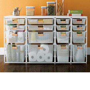Pantry Drawers   Cabinet Sized Elfa Mesh Pantry Drawers | The Container  Store