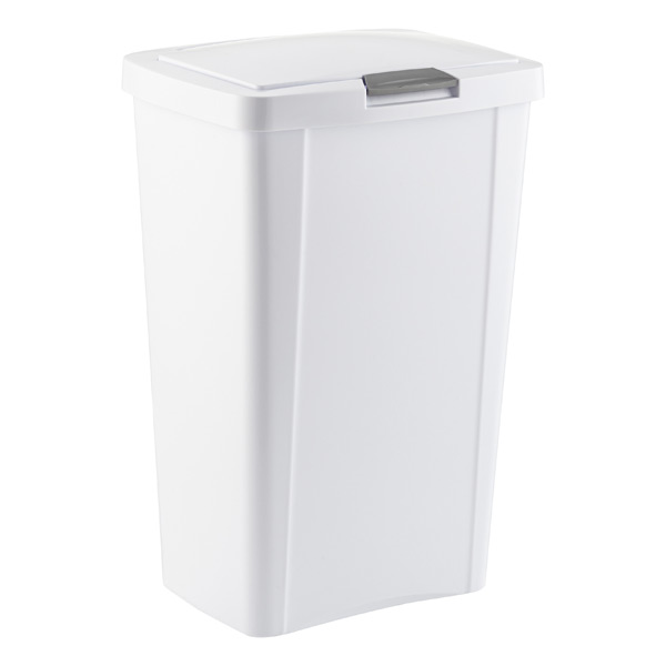 Sterilite White Touch Top Trash Cans The Container Store