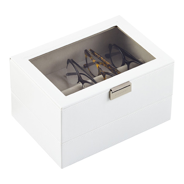 f6dac45fefb8 White Classic Stackers Lidded Eyewear Storage Box