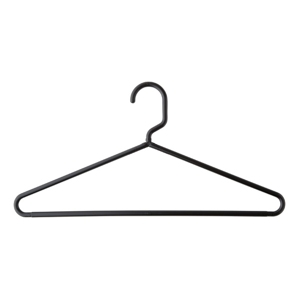 Classic tubular hangers white grey black plastic for What to do with extra clothes hangers