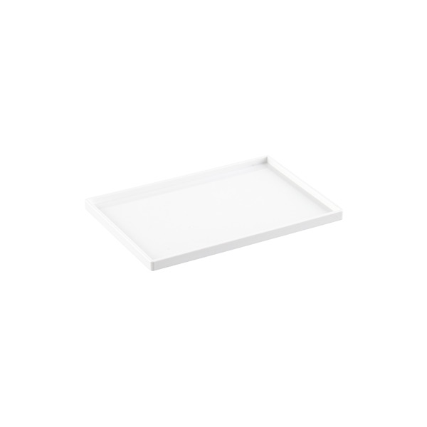 White poppin accessory slim trays the container store for White stackable letter trays