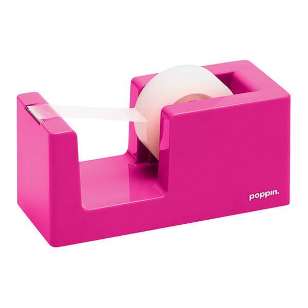pink poppin tape dispenser u0026 stapler