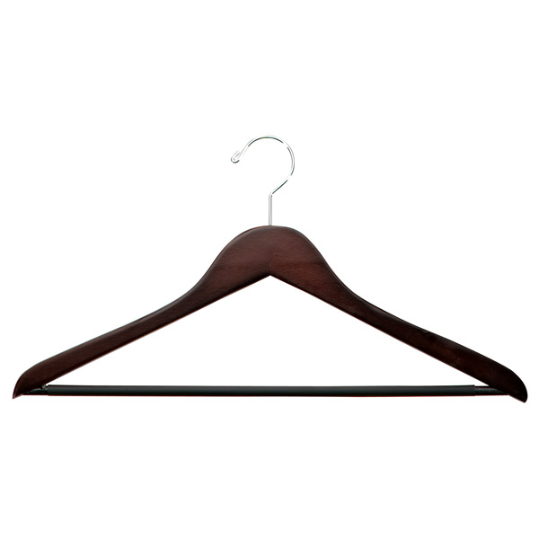 4d8438cd0 Petite Basic Walnut Wooden Clothes Hangers Pkg/6 | The Container Store