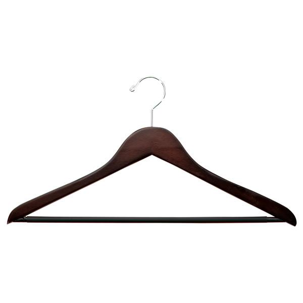 Petite Basic Walnut Wooden Clothes Hangers  28803575cb6