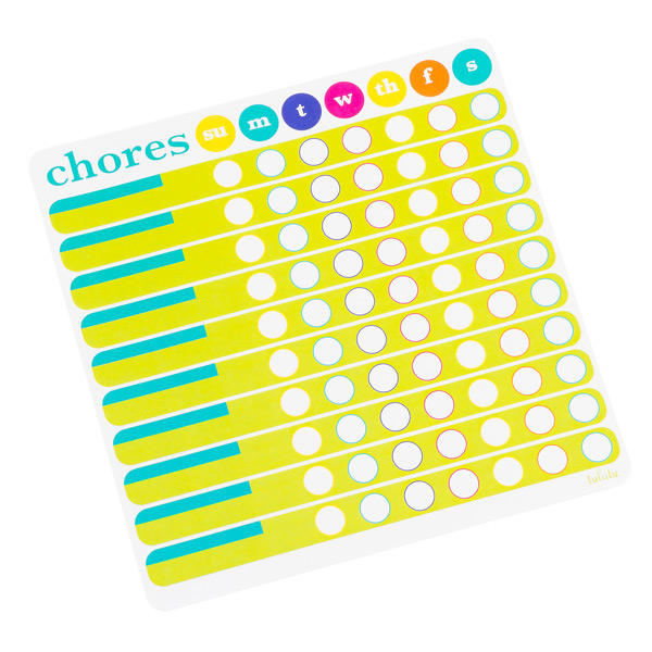 chores chart list pad the container store