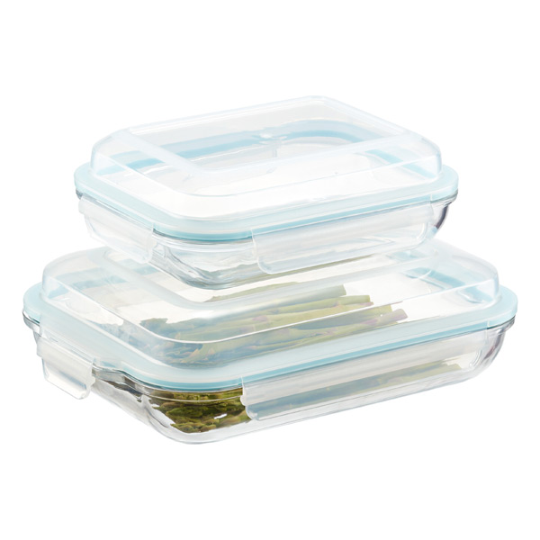 Exceptional Glasslock Plus Rectangular Food Storage With Lids ...