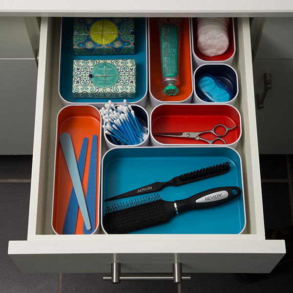Bathroom Drawer Organizer threethree metal drawer organizers   the container store