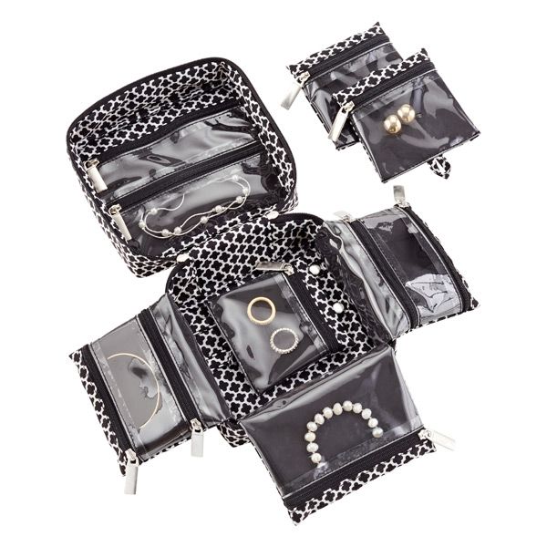 Ing Black Moroccan Travel Jewelry Organizer The Container Store