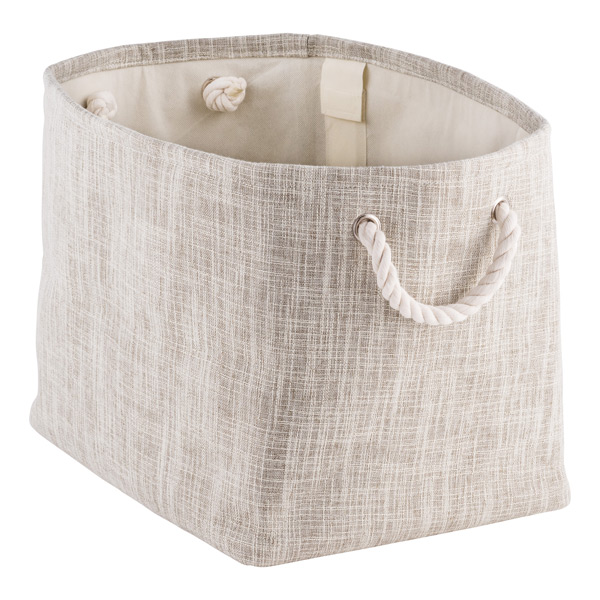 Laundry Bags With Handles Magnificent Flax Storage Bin With Rope Handles The Container Store