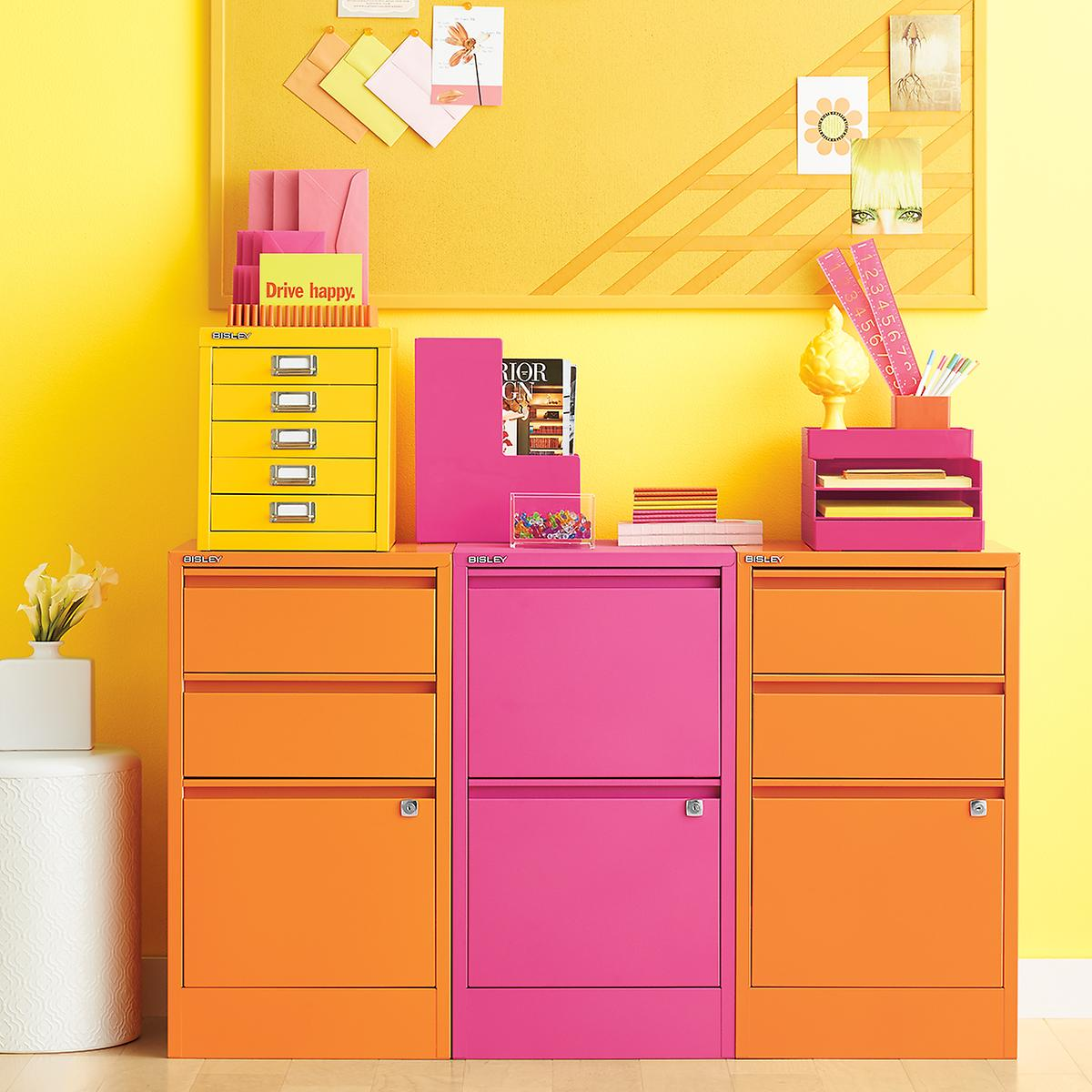 Roll Around File Cabinets Bisley Orange 2 3 Drawer Locking Filing Cabinets The