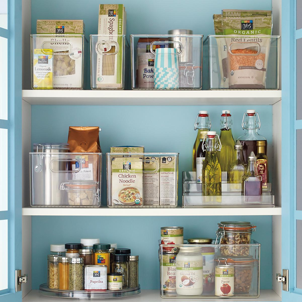 shelf organizers kitchen pantry interdesign linus pantry binz the container 5178