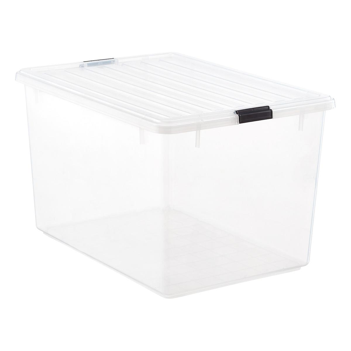 Iris 33 gal Clear Tote with Locking Lid The Container Store