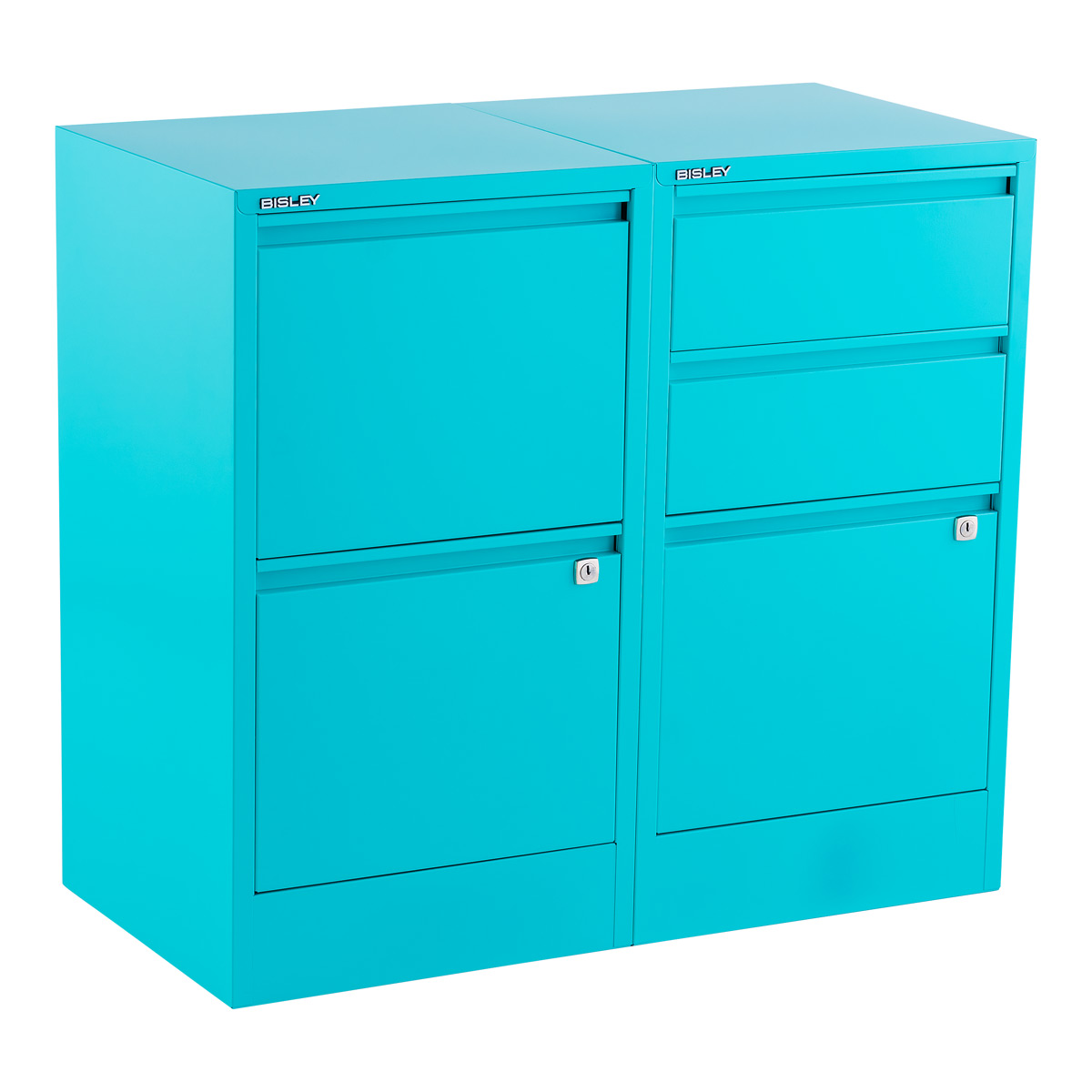 File cabinet png Document Storage Bisley Aqua 2 3drawer Locking Filing Cabinets The Container Store Bisley Aqua 2 3drawer Locking Filing Cabinets The Container Store