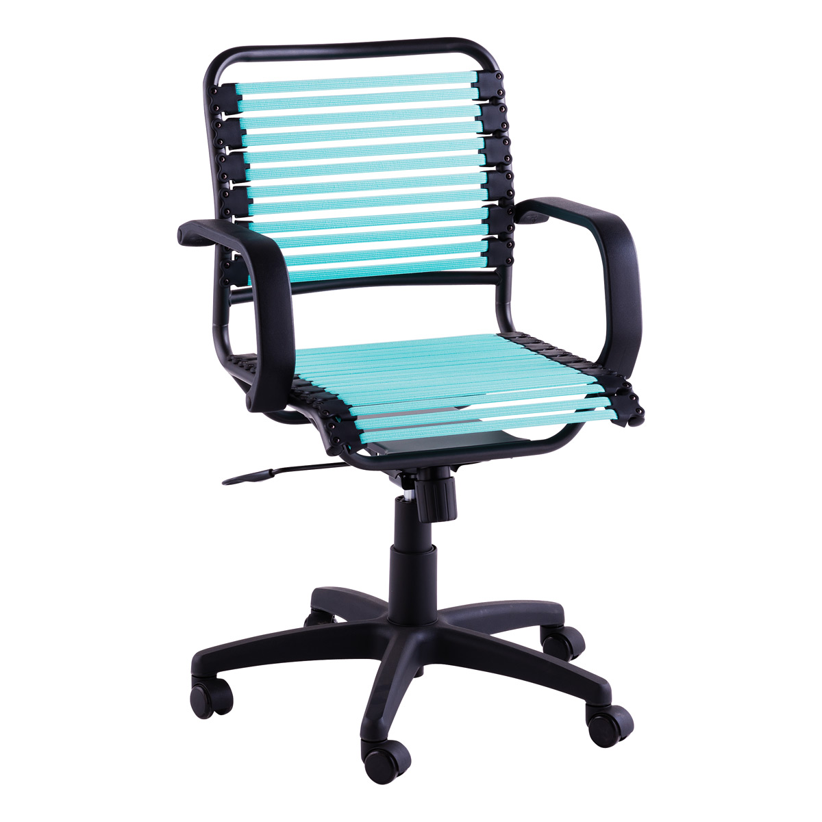 Delicieux Turquoise Flat Bungee Office Chair With Arms