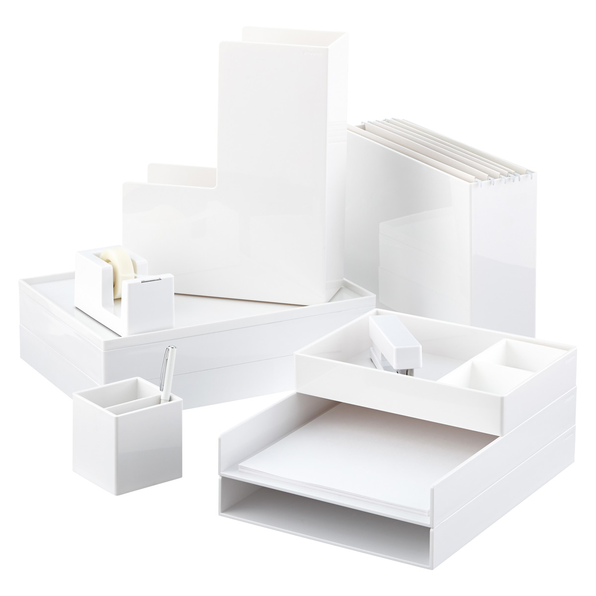 White Poppin Accessory Trays