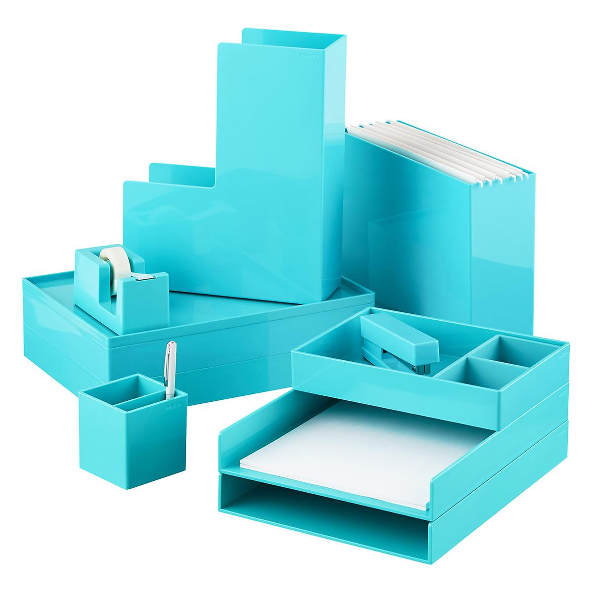 Incredible Aqua Poppin Stackable Letter Tray Download Free Architecture Designs Oxytwazosbritishbridgeorg