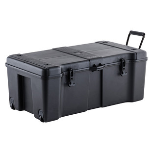 Black Ultra Storage Trunk with Wheels  sc 1 st  The Container Store & Storage Locker - Black Ultra Storage Locker with Wheels | The ...