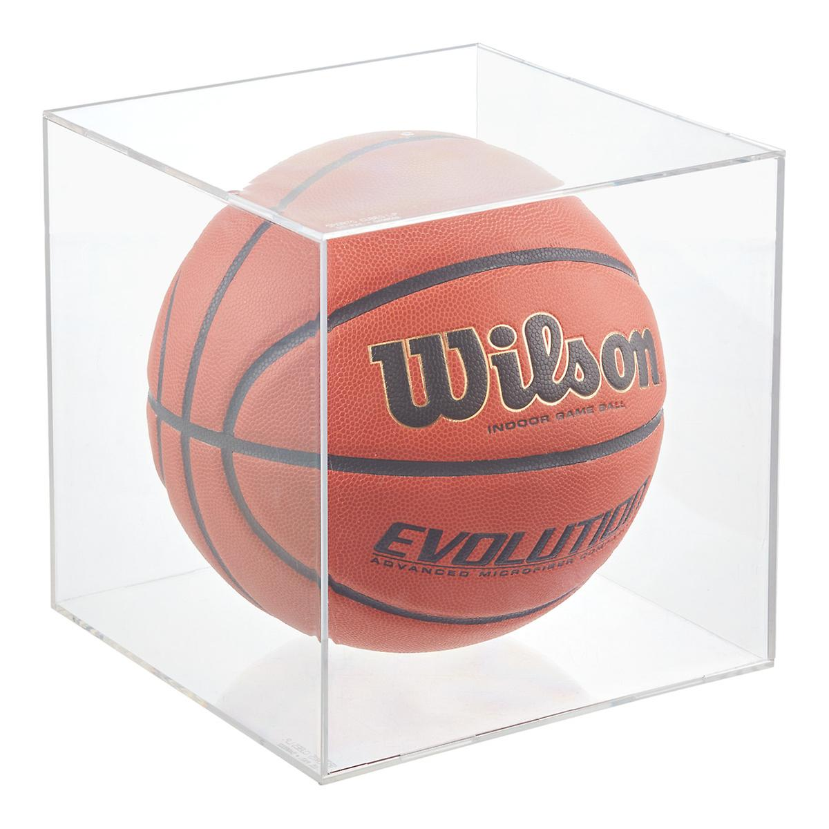 Basketball & Soccer Ball Display Cube   The Container Store Size Soccer Ball Rolling Distance