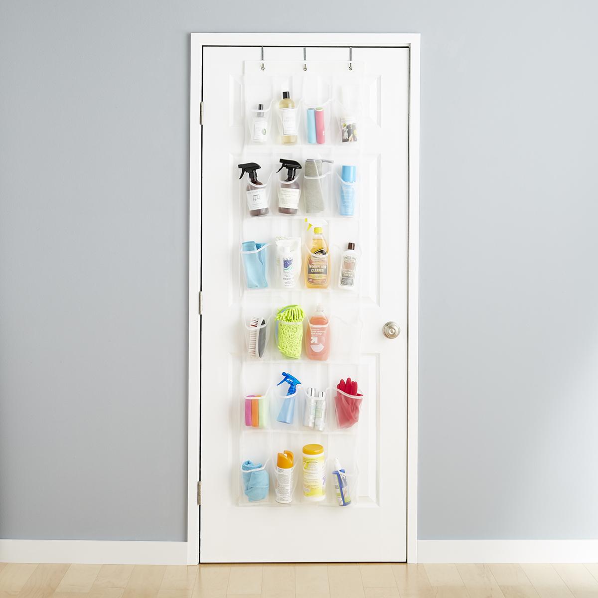 24-Pocket Mesh Over the Door Shoe Bag & 24-Pocket Mesh Over the Door Shoe Bag | The Container Store Pezcame.Com